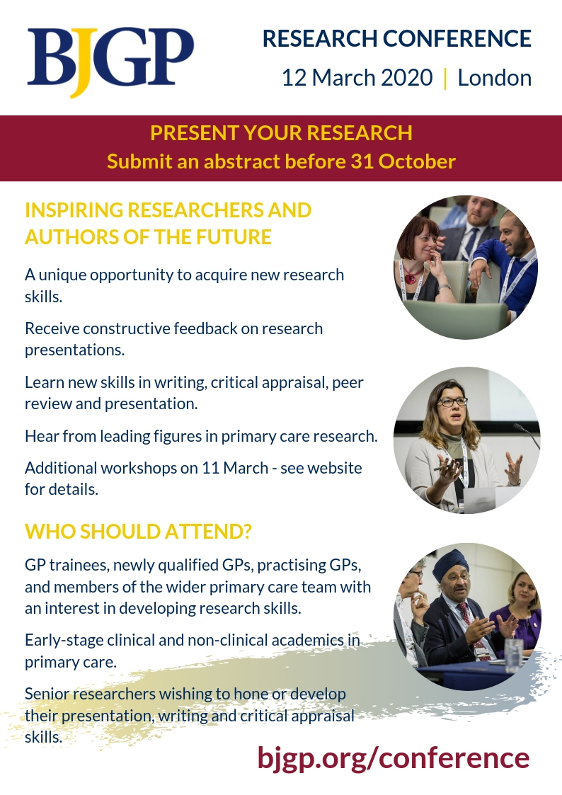 Present your research at the 2020 BJGP Conference