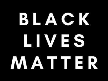 White text on black background, reading black lives matter